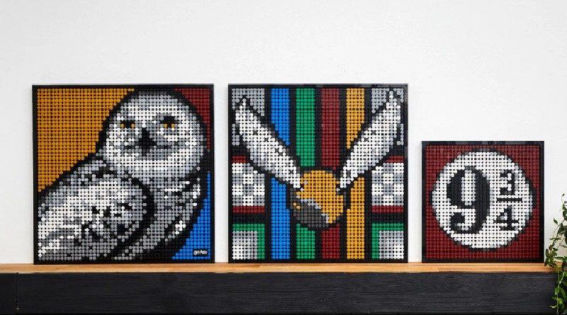 LEGO Art Harry Potter Hogwarts crests alternate featured