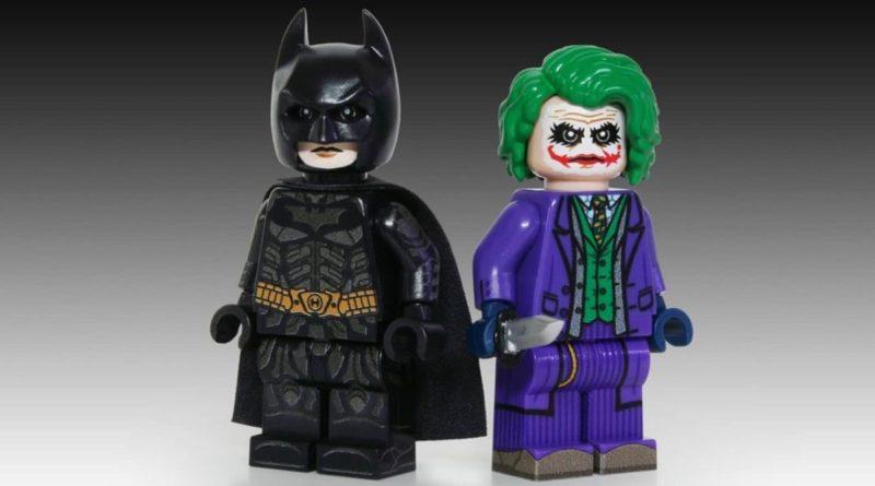 LEGO Batman Minifigure personalizzate Joker Dark Knight in primo piano