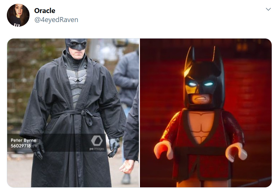 LEGO Batman Robes Comparison