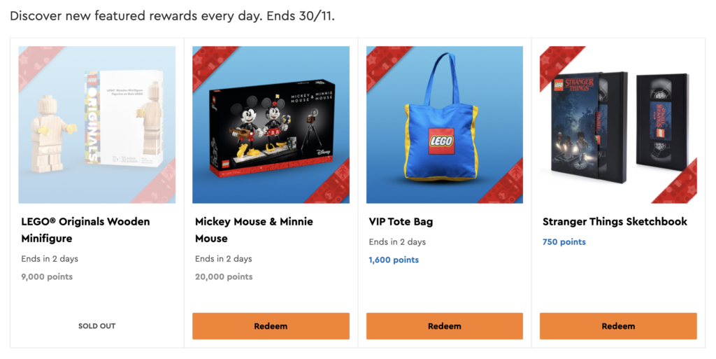 LEGO Black Friday 2020 VIP Rewards Saturday