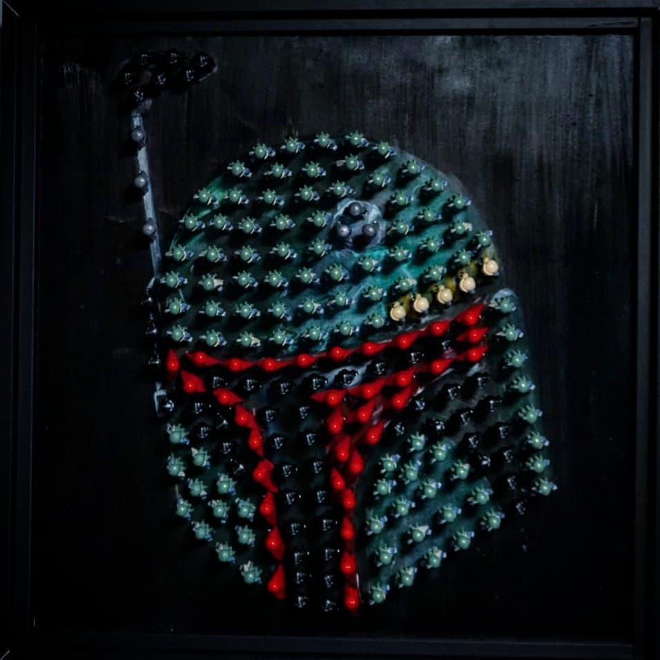 LEGO Boba Fett Helmet Artwork 01