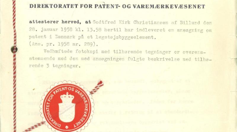 LEGO Brick Patent Denmark Featured