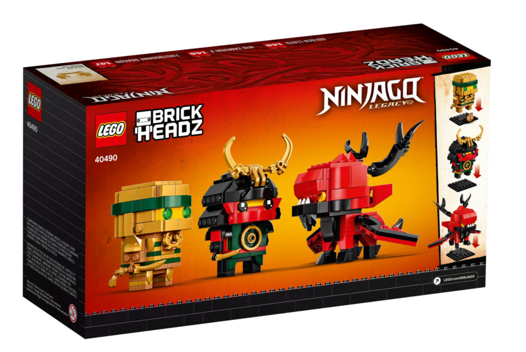 LEGO BrickHeadz 40490 NINJAGO 10 box back