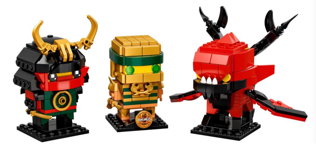 LEGO BrickHeadz 40490 NINJAGO 10 contents