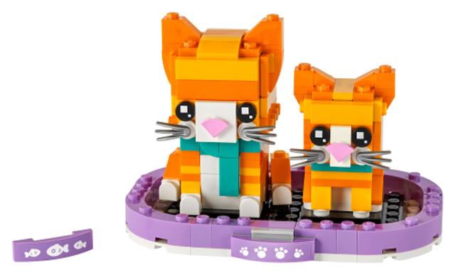 LEGO BrickHeadz Pets 40480 Ginger Tabby 1