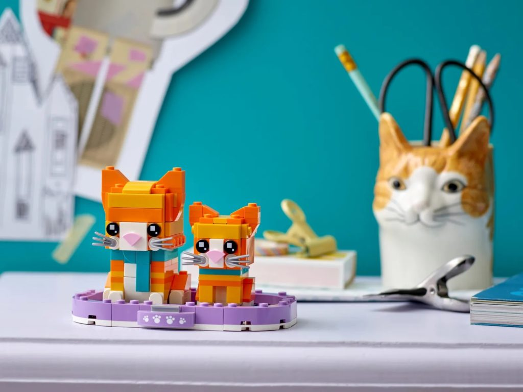 LEGO BrickHeadz Pets 40480 Ginger Tabby 4