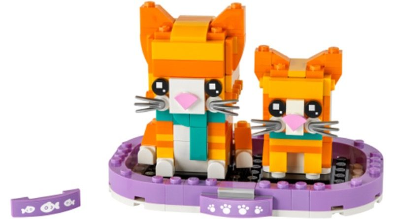 LEGO BrickHeadz Pets 40480 Ginger Tabby featured