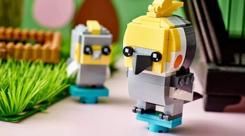 LEGO BrickHeadz Pets 40481 Cockatiel featured