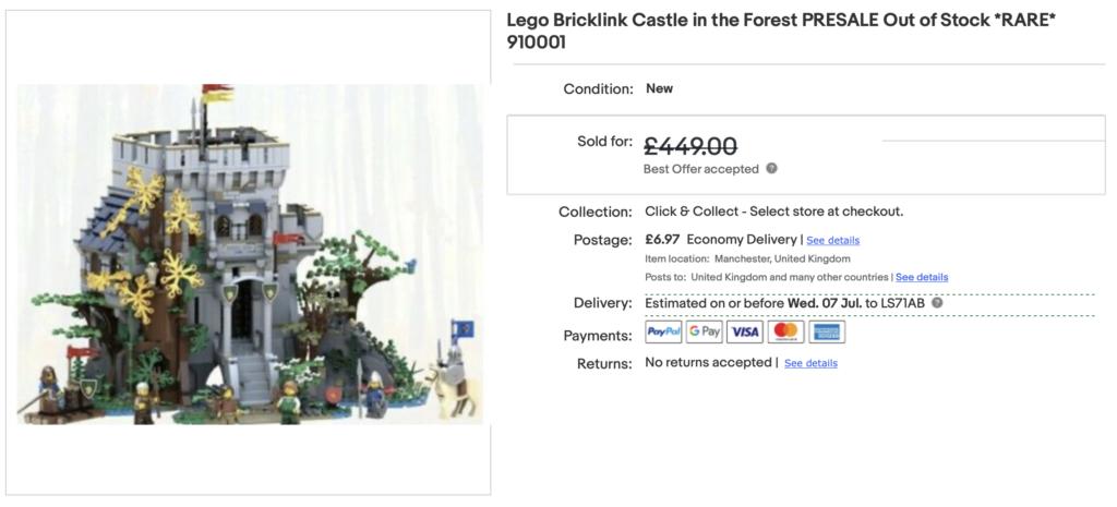LEGO BrickLink Designer Program The Castle in the Forest eBay 1