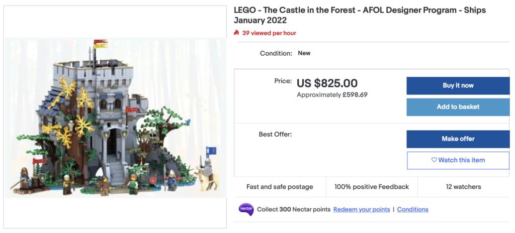 LEGO BrickLink Designer Program The Castle in the Forest eBay 2