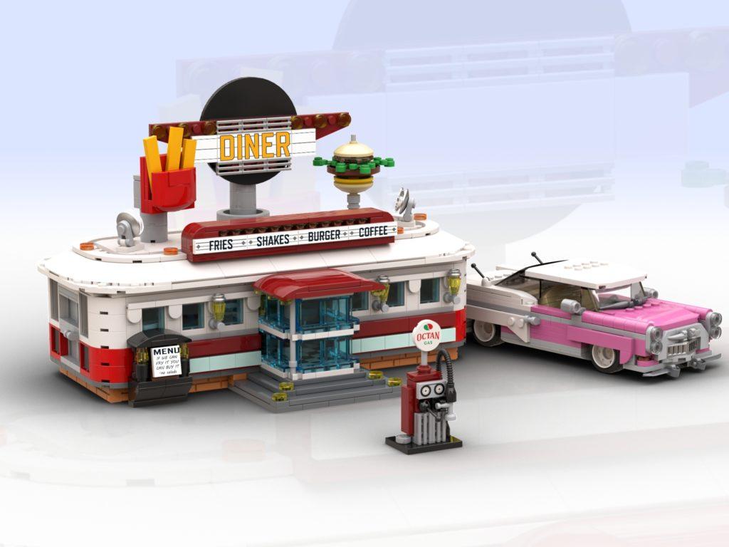 LEGO BrickLink Diner Updated Build