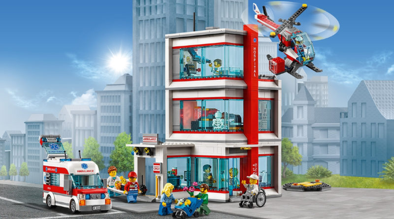 LEGO CITY 60204 City Hospital box art no overlay featured