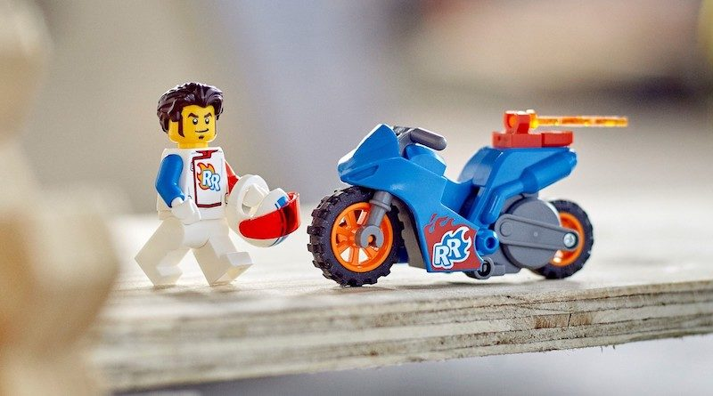LEGO CITY 60298 Rocket Stunt Bike featured