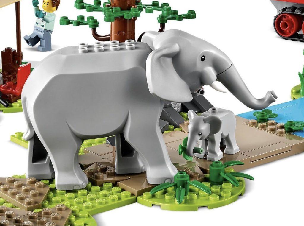 LEGO CITY 60302 ველური ბუნების სამაშველო ოპერაცია სპილოები