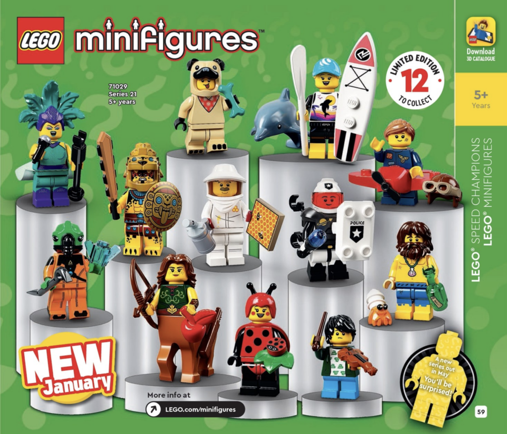 LEGO CMFs 2021 Catalogue 1