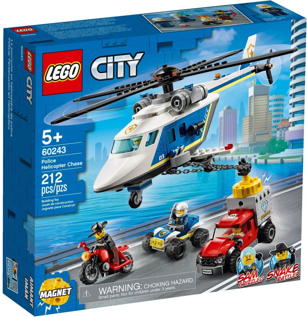 LEGO City 60243 Police Helicopter Chase 1