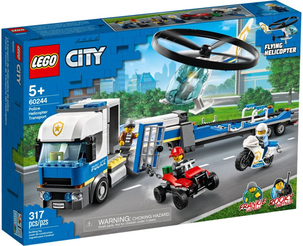 LEGO City 60244 Police Helicopter Transport 1
