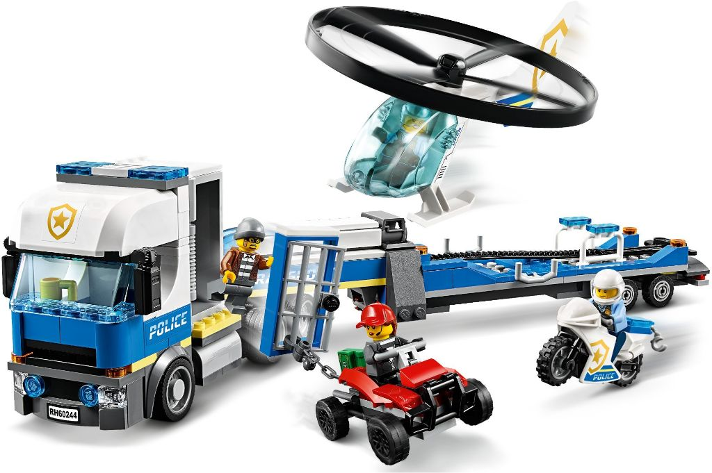 LEGO City 60244 Police Helicopter Transport 2