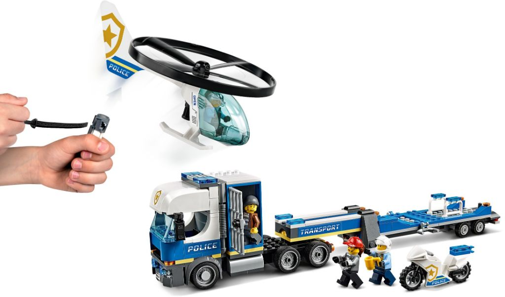 LEGO City 60244 Police Helicopter Transport 3