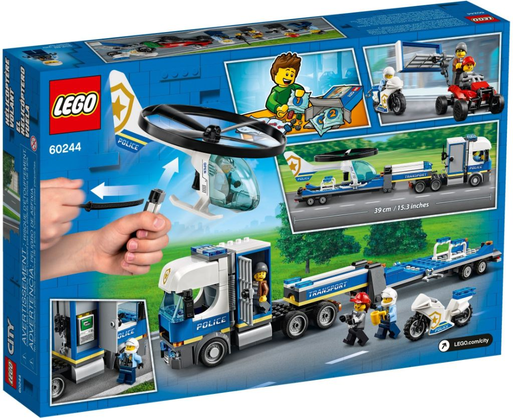 LEGO City 60244 Police Helicopter Transport 4
