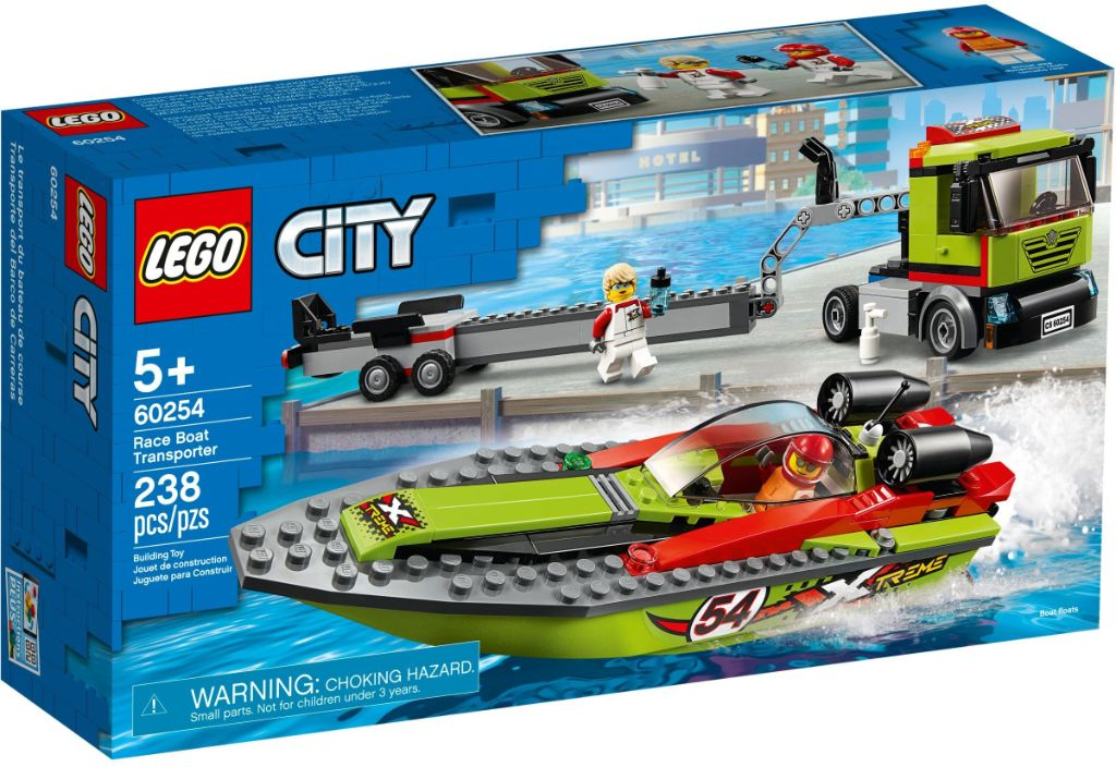 LEGO City 60254 Race Boat Transport 1