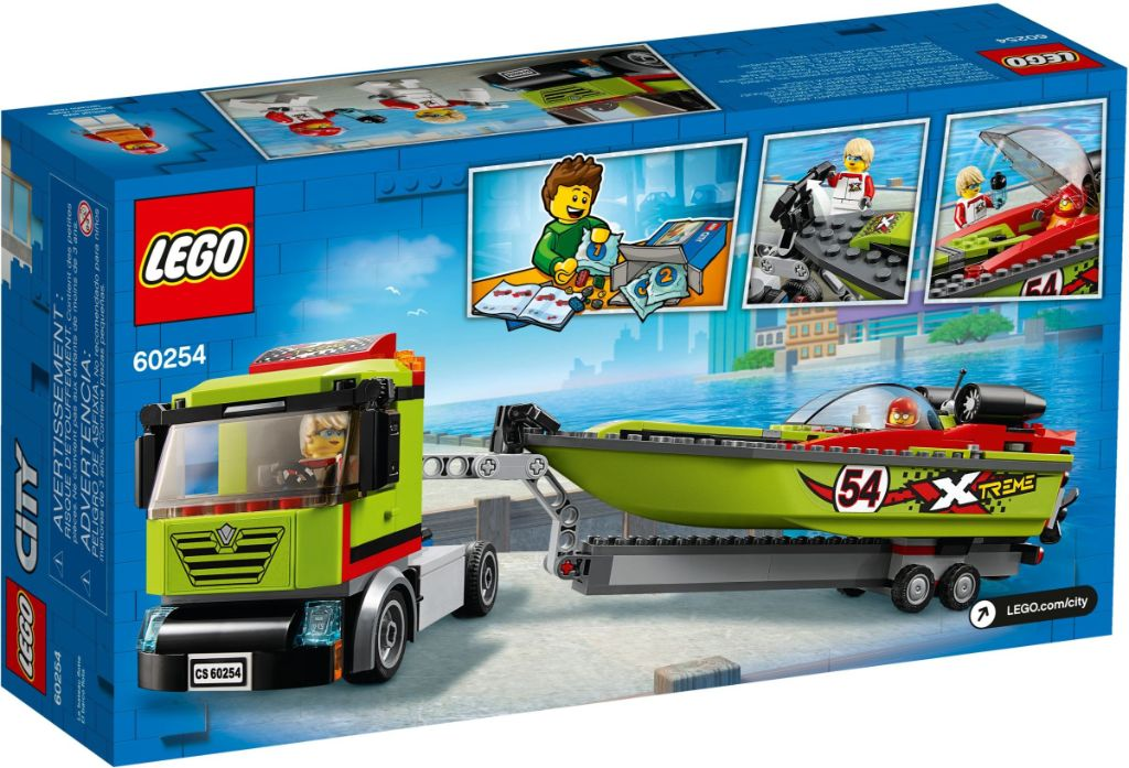 LEGO City 60254 Race Boat Transport 3