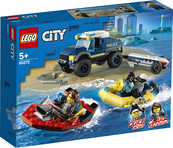 LEGO City 60272 Elite Police Boat Transporter 1