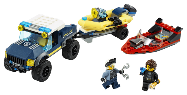 LEGO City 60272 Elite Police Boat Transporter 3