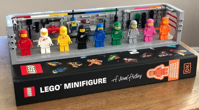 The full rainbow of LEGO Classic Space minifigures is really satisfying