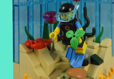 LEGO Collectible Minifigures Series 20 vignettes: Sea Rescuer