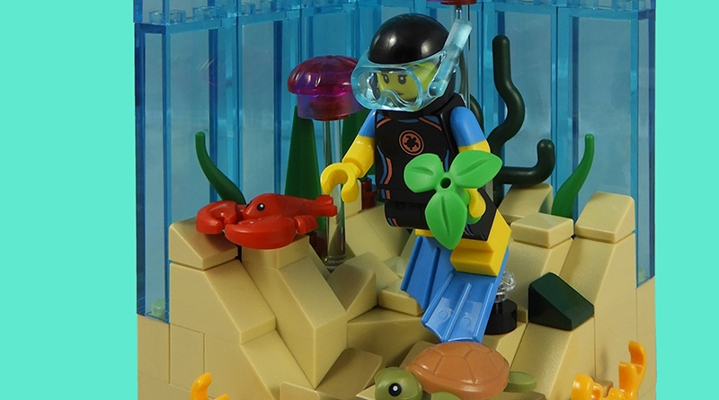 LEGO Collectible Minfigures Series 20 Diver Featured