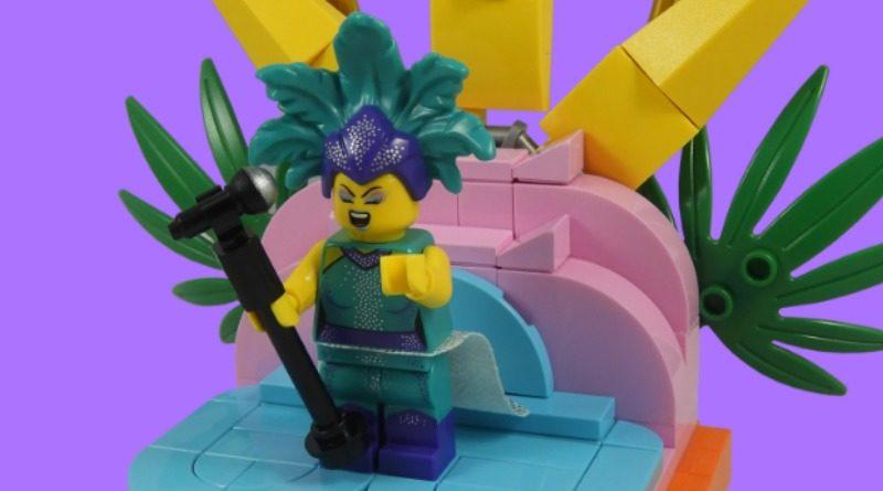 LEGO Collectible Minifigures Serie 21 – Cantante di cabaret in primo piano