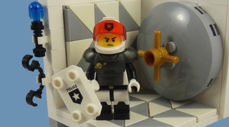 LEGO Collectible Minifigures Serie 21 – In primo piano il ragazzo della polizia spaziale