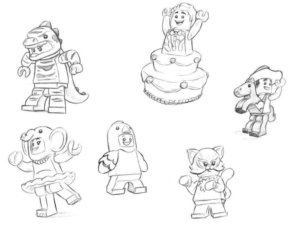 LEGO Collectible Minifigures Sketches