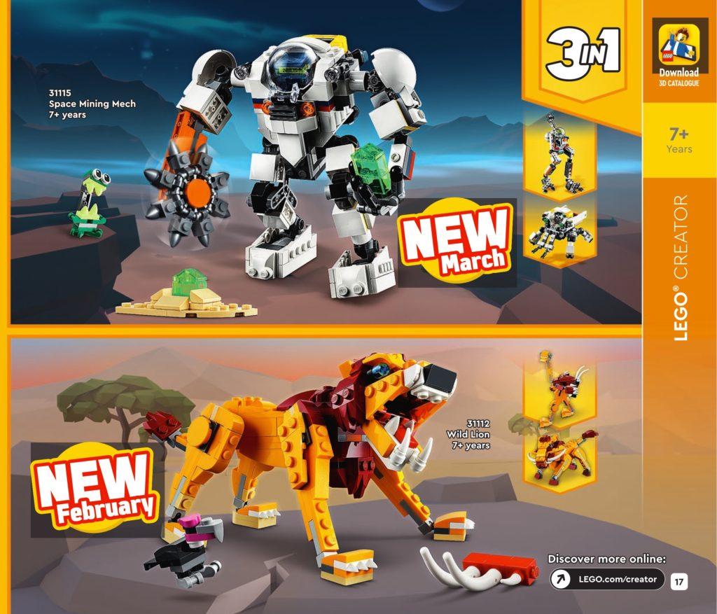 LEGO Creator 3 In 1 2021 Catalogue