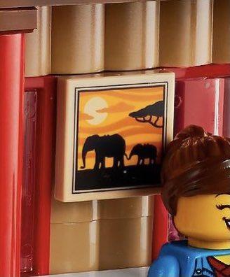 LEGO Creator 3 in 1 31116 Safari Wildlife Tree House სპილო ბეჭდური ფილა