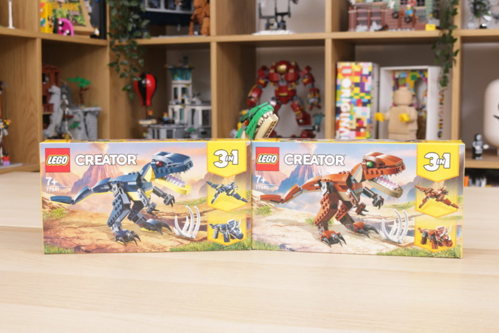 LEGO Creator 3 in 1 77940 Mighty Dinosaurs and 77941 Mighty Dinosaurs review 1