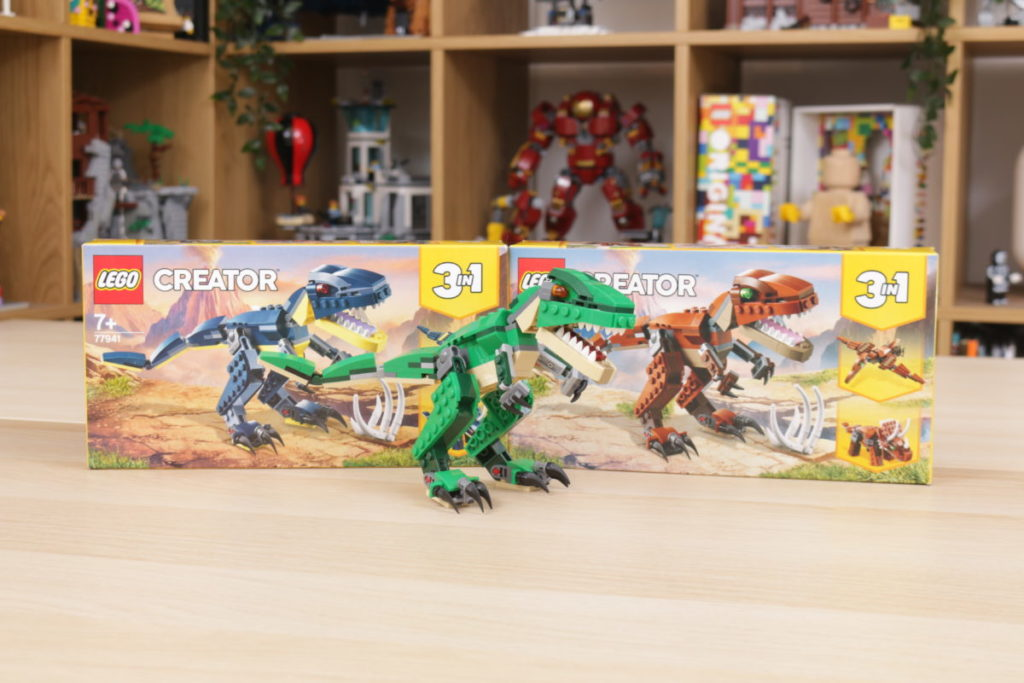 LEGO Creator 3 in 1 77940 Mighty Dinosaurs and 77941 Mighty Dinosaurs review 2