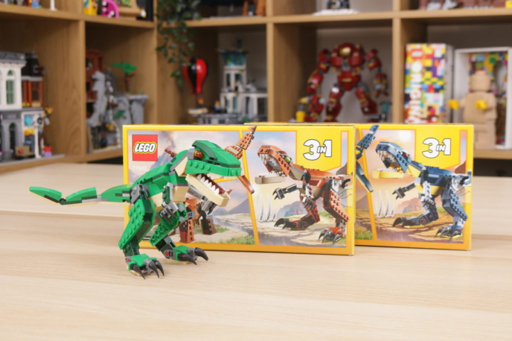 LEGO Creator 3 in 1 77940 Mighty Dinosaurs and 77941 Mighty Dinosaurs review 3