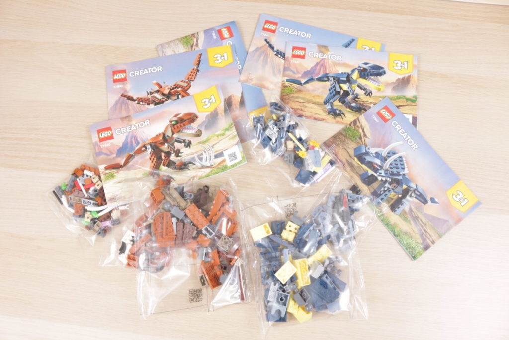 LEGO Creator 3 in 1 77940 Mighty Dinosaurs and 77941 Mighty Dinosaurs review 4