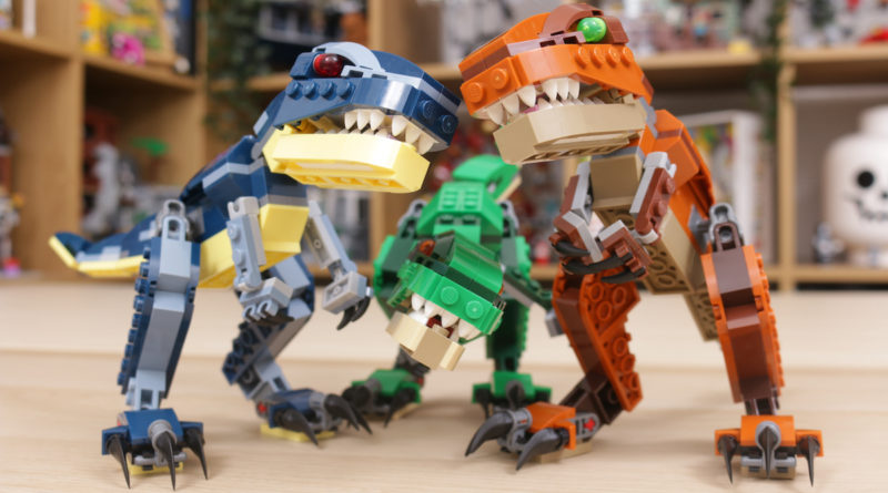LEGO Creator 3 in 1 77940 Mighty Dinosaurs and 77941 Mighty Dinosaurs review title