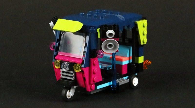 LEGO Creator 40469 Tuk Tuk development sketch model featured