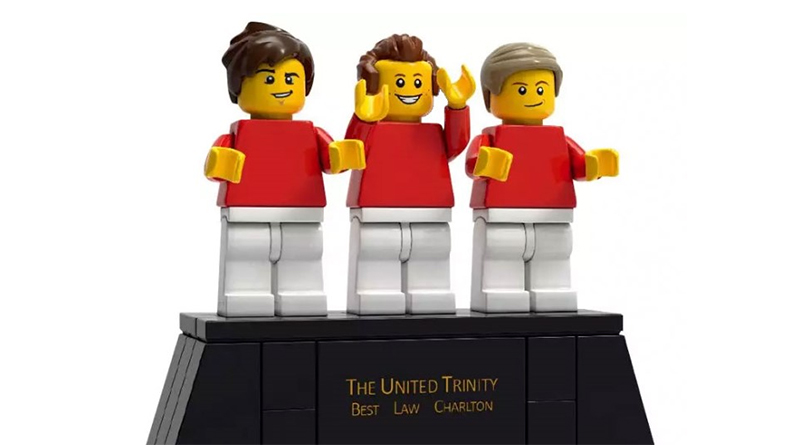 LEGO Manchester United Trinity statue