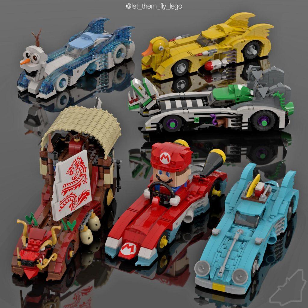 LEGO Crossover batmobiles