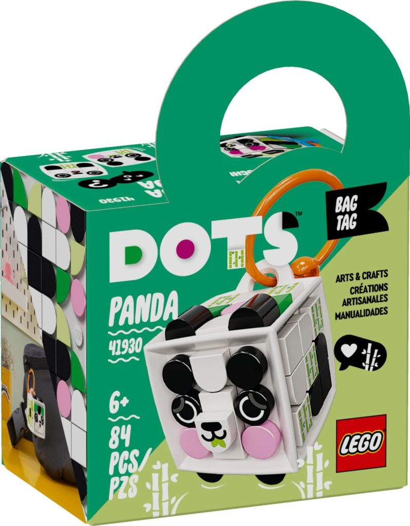 LEGO DOTS 41930 Bag Tag Panda 2
