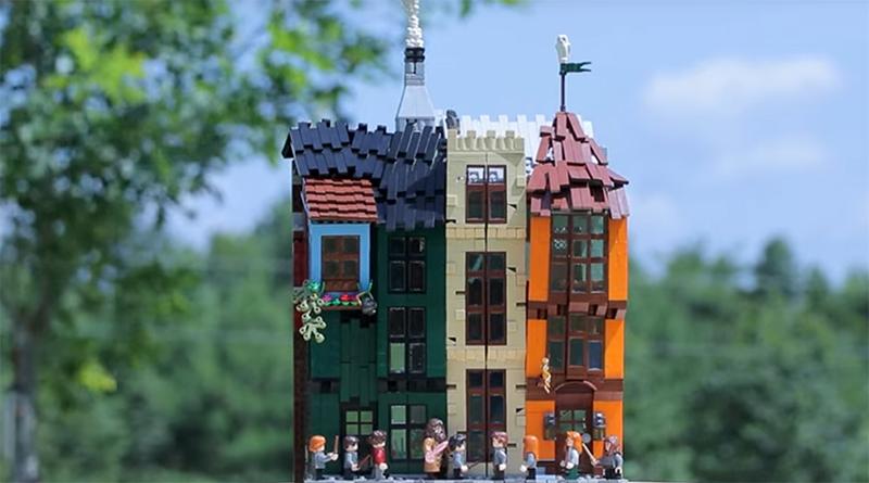 LEGO Diagon Alley MOC Featured