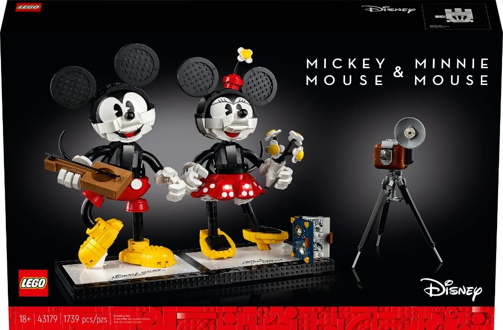 LEGO Disney 43179 Mickey Mouse and Minnie Mouse Buildable Characters 12