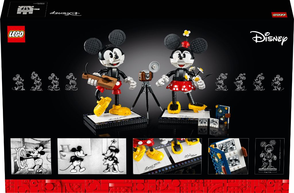 LEGO Disney 43179 Mickey Mouse and Minnie Mouse Buildable Characters 16