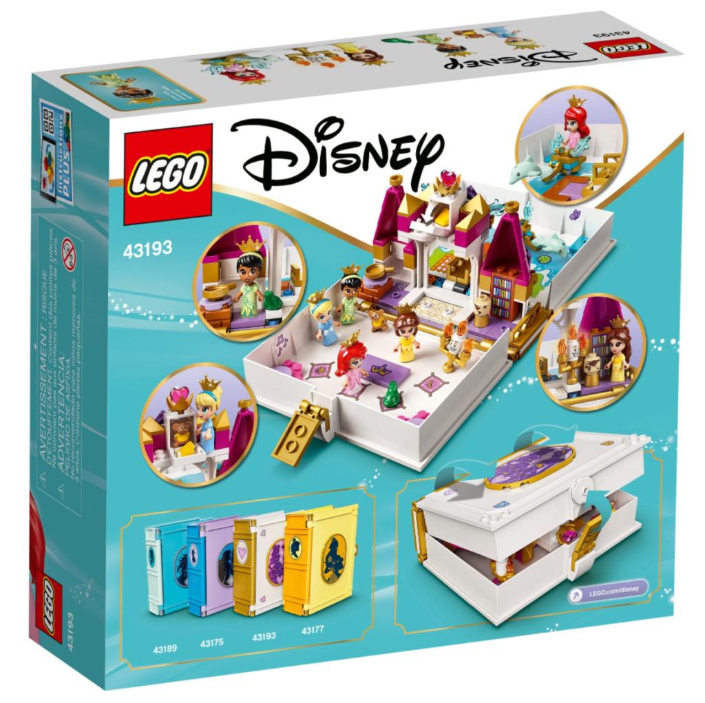 LEGO Disney 43192 Ariel Belle Cinderella and Tianas Storybook Adventures box back