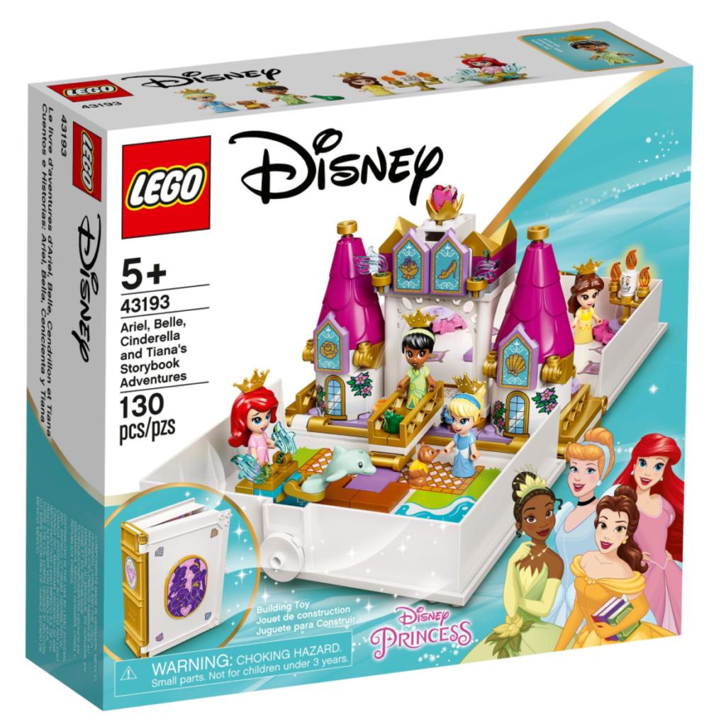 LEGO Disney 43192 Ariel Belle Cinderella and Tianas Storybook Adventures